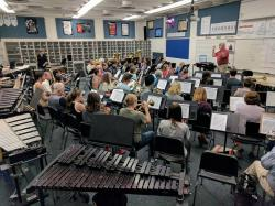 Rehearsal in the WRHS Band room